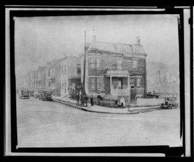 Street Improvement Photographs -- Box 21, Folder 48 (Carll Street) -- print, 1934-02-06
