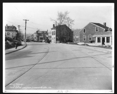 Street Improvement Photographs -- Box 21, Folder 48 (Carll Street) -- print, 1935-12-11