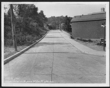 Street Improvement Photographs -- Box 21, Folder 50 (Casper Street) -- print, 1930-07-25