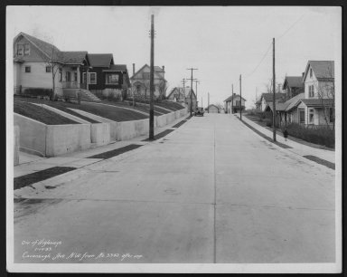 Street Improvement Photographs -- Box 21, Folder 51 (Cavanaugh Street) -- print, 1933-01-10
