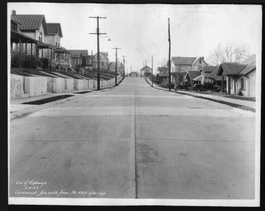 Street Improvement Photographs -- Box 21, Folder 51 (Cavanaugh Street) -- print, 1933-02-03