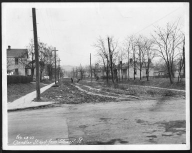 Street Improvement Photographs -- Box 21, Folder 53 (Chandler Street) -- print, 1927-02-28