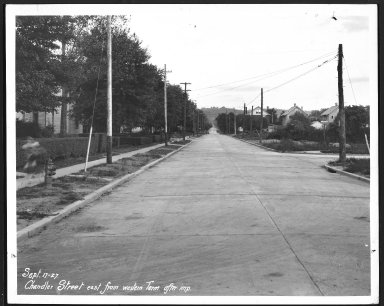Street Improvement Photographs -- Box 21, Folder 53 (Chandler Street) -- print, 1927-09-17
