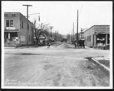 Street Improvement Photographs -- Box 21, Folder 54 (Chandler Street) -- print, 1927-02-28