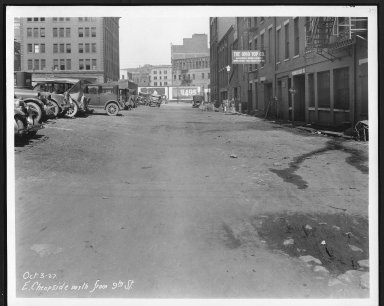 Street Improvement Photographs -- Box 21, Folder 57 (Cheapside (East)) -- print, 1927-10-03