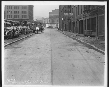 Street Improvement Photographs -- Box 21, Folder 57 (Cheapside (East)) -- print, 1928-04-02