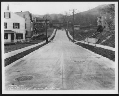 Street Improvement Photographs -- Box 21, Folder 58 (Clara Avenue) -- print, 1930-12-09