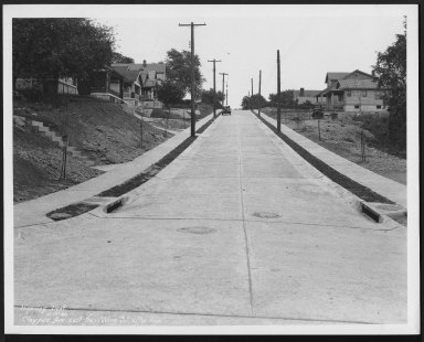 Street Improvement Photographs -- Box 21, Folder 59 (Claypole Street) -- print, 1930-05-13