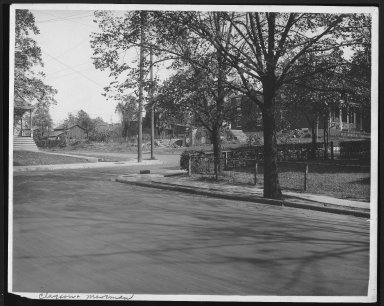 Street Improvement Photographs -- Box 21, Folder 60 (Clayton Avenue) -- print, 1917-04-11