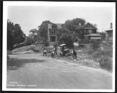 Street Improvement Photographs -- Box 21, Folder 62 (Clinton Springs) -- print, 1926-06-28