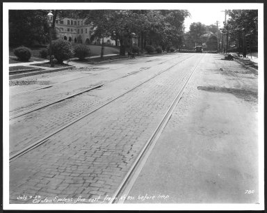 Street Improvement Photographs -- Box 21, Folder 62 (Clinton Springs) -- print, 1929-07-09