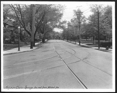 Street Improvement Photographs -- Box 21, Folder 62 (Clinton Springs) -- print, 1929-05-02