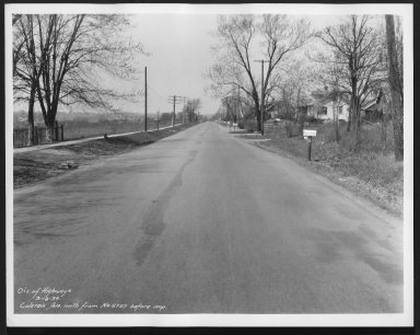 Street Improvement Photographs -- Box 21, Folder 67 (Colerain Avenue) -- print, 1934-03-19