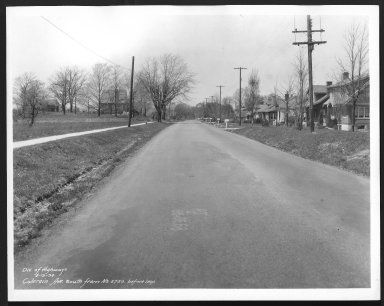 Street Improvement Photographs -- Box 21, Folder 67 (Colerain Avenue) -- print, 1934-04-19