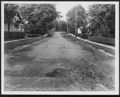 Street Improvement Photographs -- Box 21, Folder 72 (Conant Street) -- print, 1930-09-08