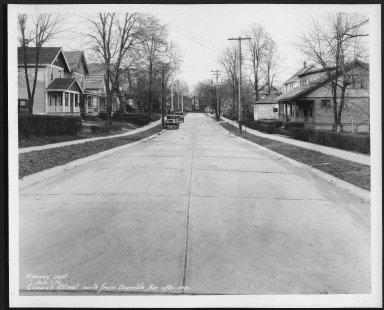 Street Improvement Photographs -- Box 21, Folder 72 (Conant Street) -- print, 1931-01-07