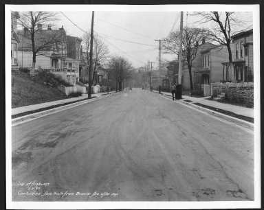 Street Improvement Photographs -- Box 21, Folder 74 (Considine Avenue) -- print, 1933-02-02