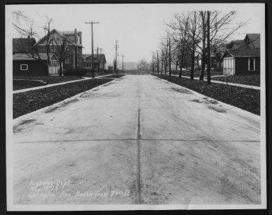 Street Improvement Photographs -- Box 22, Folder 01 (Cornelia Avenue) -- print, 1929-04-06