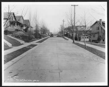 Street Improvement Photographs -- Box 22, Folder 02 (Cartelyou Place) -- print, 1932-04-07