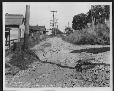 Street Improvement Photographs -- Box 22, Folder 04 (Cresap Avenue) -- print, 1931-07-24