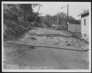 Street Improvement Photographs -- Box 22, Folder 04 (Cresap Avenue) -- print, 1931-07-24