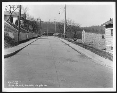 Street Improvement Photographs -- Box 22, Folder 04 (Cresap Avenue) -- print, 1932-04-19