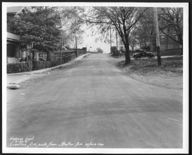 Street Improvement Photographs -- Box 22, Folder 05 (Crestline Avenue) -- print, 1931-04-30