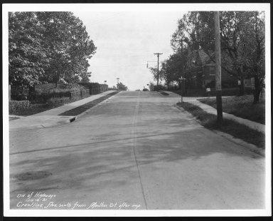 Street Improvement Photographs -- Box 22, Folder 05 (Crestline Avenue) -- print, 1931-10-06
