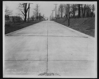 Street Improvement Photographs -- Box 22, Folder 13 (Custer Street) -- print, 1928-03-14