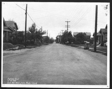 Street Improvement Photographs -- Box 22, Folder 14 (Dale Road) -- print, 1932-06-30