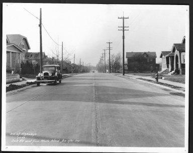 Street Improvement Photographs -- Box 22, Folder 14 (Dale Road) -- print, 1933-01-06