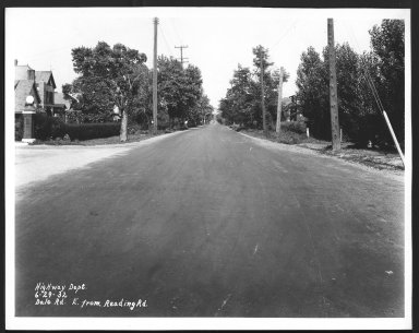 Street Improvement Photographs -- Box 22, Folder 14 (Dale Road) -- print, 1932-06-29