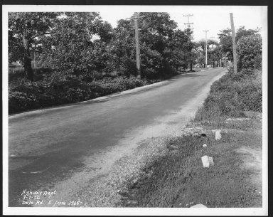 Street Improvement Photographs -- Box 22, Folder 14 (Dale Road) -- print, 1932-07-07