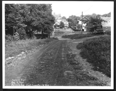 Street Improvement Photographs -- Box 22, Folder 16 (Daniels Avenue) -- print, 1930-08-19