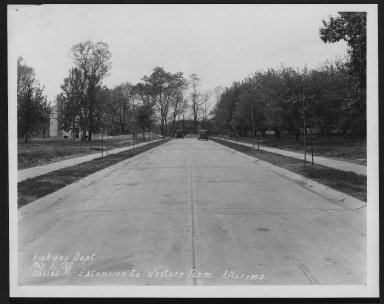 Street Improvement Photographs -- Box 22, Folder 19 (Davies Place) -- print, 1930-05-05