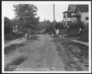 Street Improvement Photographs -- Box 22, Folder 20 (Davoron Avenue) -- print, 1930-05-20