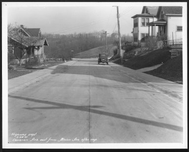 Street Improvement Photographs -- Box 22, Folder 20 (Davoron Avenue) -- print, 1931-02-24