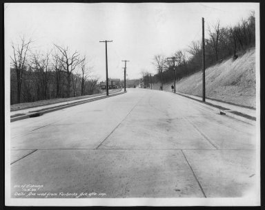 Street Improvement Photographs -- Box 22, Folder 23 (Delhi Avenue) -- print, 1933-12-09