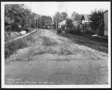 Street Improvement Photographs -- Box 22, Folder 24 (Delmar Avenue) -- print, 1930-10-09