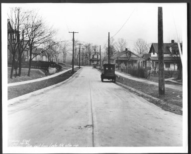 Street Improvement Photographs -- Box 22, Folder 24 (Delmar Avenue) -- print, 1931-01-25