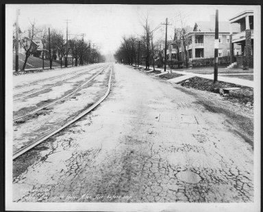 Street Improvement Photographs -- Box 22, Folder 25 (Delta Avenue) -- print, 1931-02-21