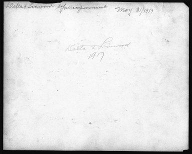 Street Improvement Photographs -- Box 22, Folder 26 (Delta Avenue) -- print, 1917-05-31 (back of photograph)