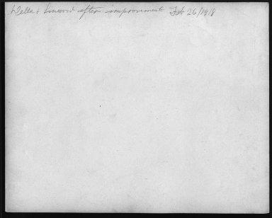 Street Improvement Photographs -- Box 22, Folder 26 (Delta Avenue) -- print, 1918-02-26 (back of photograph)