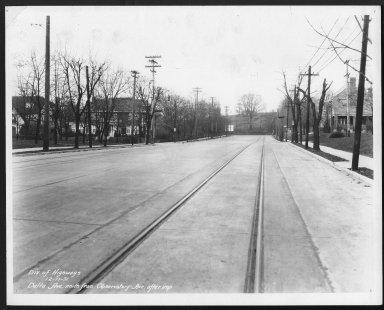 Street Improvement Photographs -- Box 22, Folder 26 (Delta Avenue) -- print, 1931-12-17