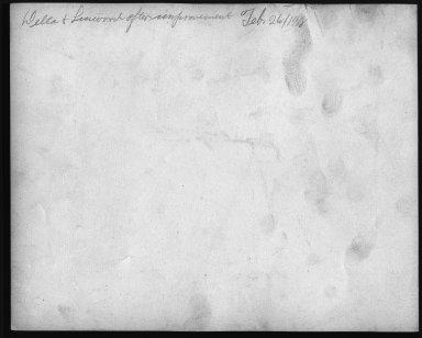 Street Improvement Photographs -- Box 22, Folder 27 (Delta Avenue) -- print, 1918-02-26 (back of photograph)