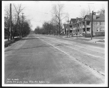 Street Improvement Photographs -- Box 22, Folder 27 (Delta Avenue) -- print, 1929-03-12