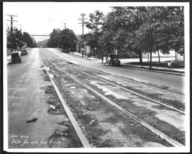 Street Improvement Photographs -- Box 22, Folder 27 (Delta Avenue) -- print, 1928-06-18