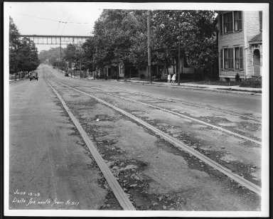 Street Improvement Photographs -- Box 22, Folder 28 (Delta Avenue) -- print, 1928-06-18