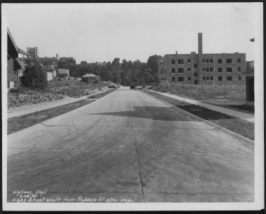 Street Improvement Photographs -- Box 22, Folder 34 (Digby Avenue) -- print, 1930-08-25