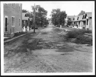 Street Improvement Photographs -- Box 22, Folder 35 (Dillwand Street) -- print, 1930-09-13